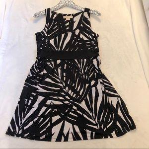 Michael Kors Palm Leaf Sleeveless Dress - Size P/M